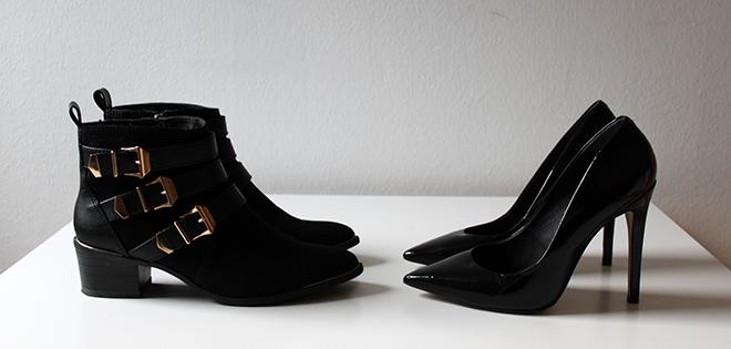 outfit trend fashionblogger newin sarenza boots gold schnallen tamaris pumps schwarz buffalo