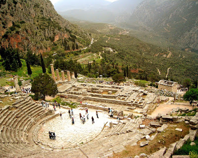 Ruins of Theater at Delphi and Remains of Temple of Apollo - if you don't know why this image is relevant to our forecast of the future for Greece's economy, you should brush up on your ancient history!  Source: https://www.cia.gov/library/publications/the-world-factbook/photo_gallery/gr/photo_gallery_B1_gr_44.html