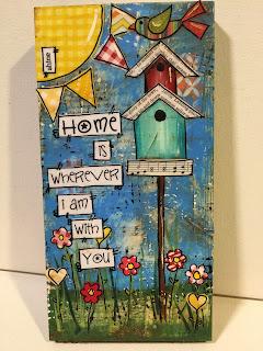 aqua birdhouse, handmade birdhouse, hand painted birdhouse