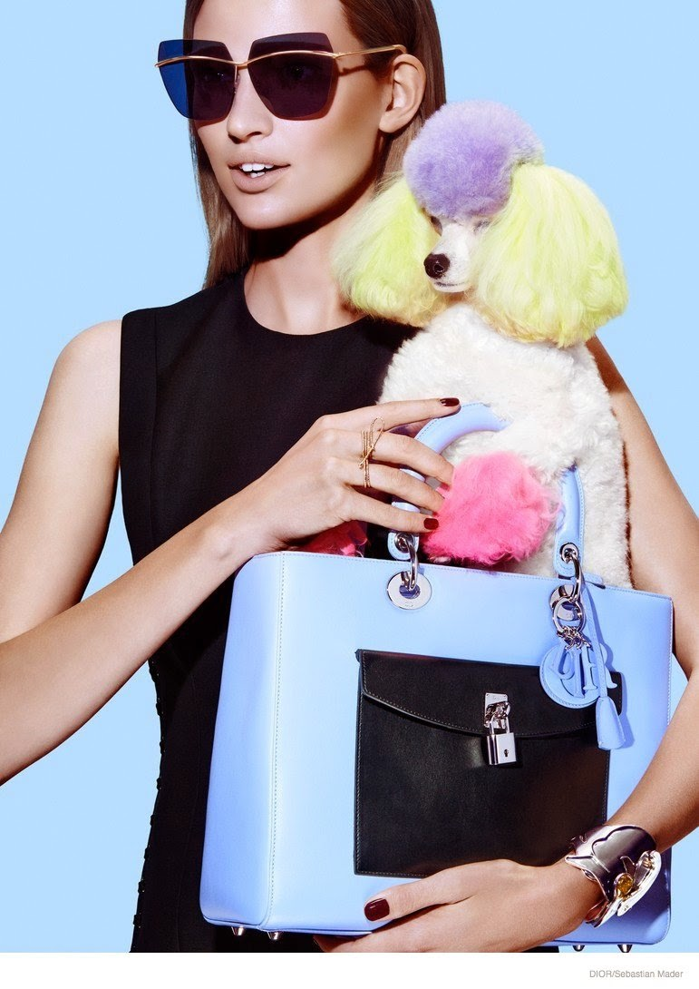 Bette Franke shows off new handbag styles for Dior Magazine