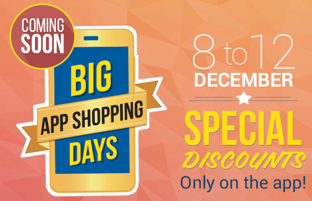 Special discount for app users of Flipkart from 8th-12th Dec