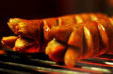 resep praktis (mudah) memasak (membakar) sosis bakar spesial enak, gurih, lezat