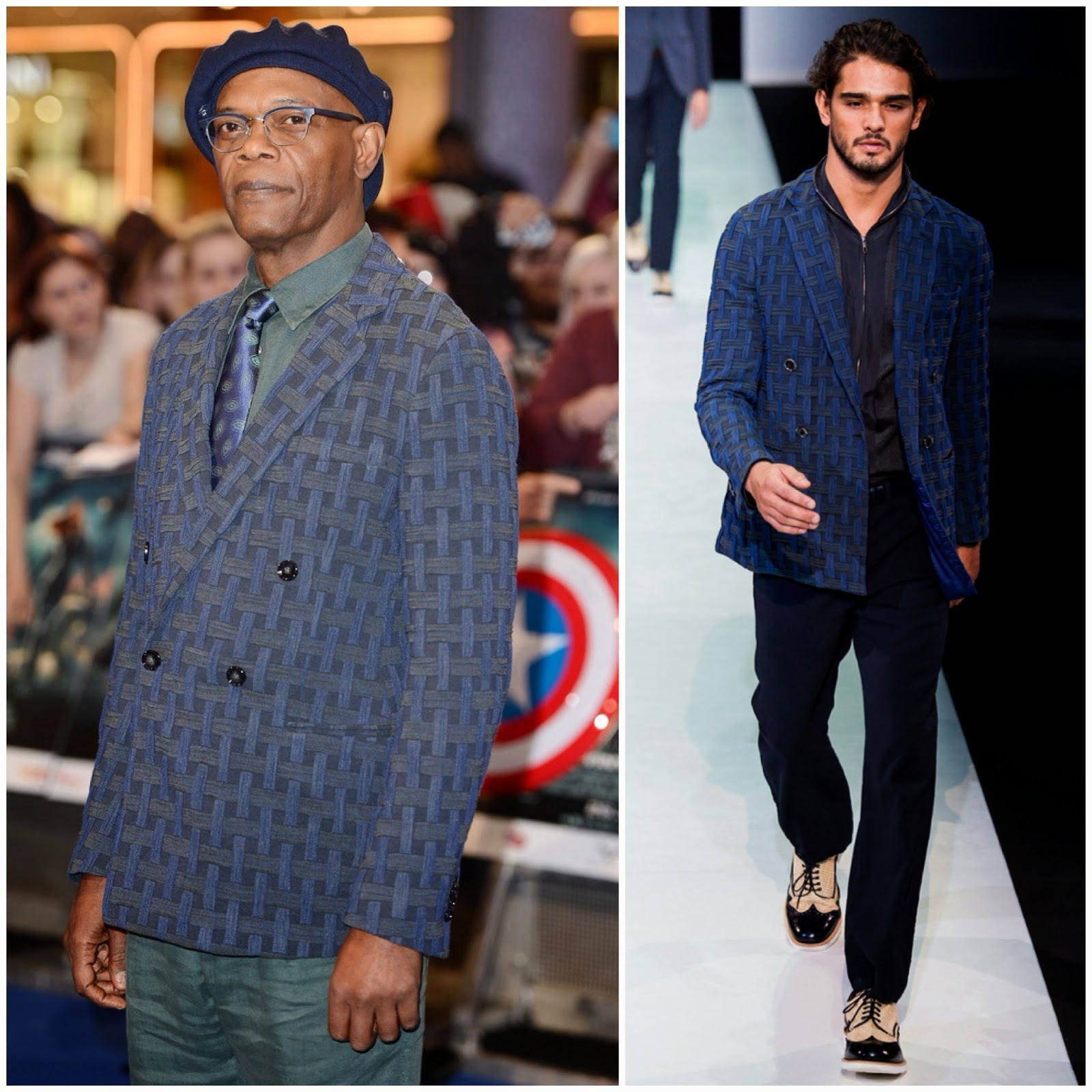 Samuel L Jackson in Giorgio Armani - 'Captain America: The Winter Soldier' UK Premiere