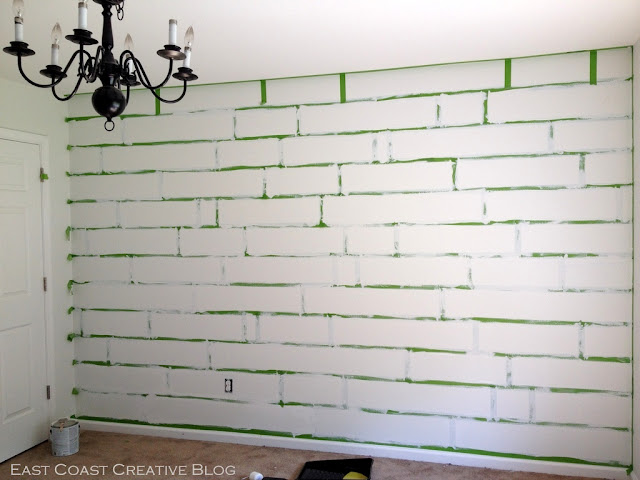 how to paint a mosaic accent wall bedroom makeover. Black Bedroom Furniture Sets. Home Design Ideas