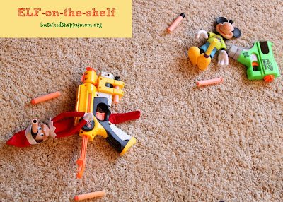 Nerf attack! Ideas for Christmas Fun with your Elf-on-the-Shelf