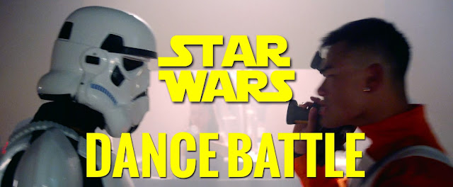 Epic Star Wars Dance Off. Watch It Now, Who will Win. Light Side, Dark Side. Hilarious, Awesome. Very Cool.