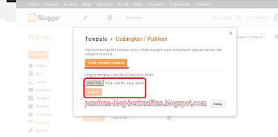 Upload Template Blog