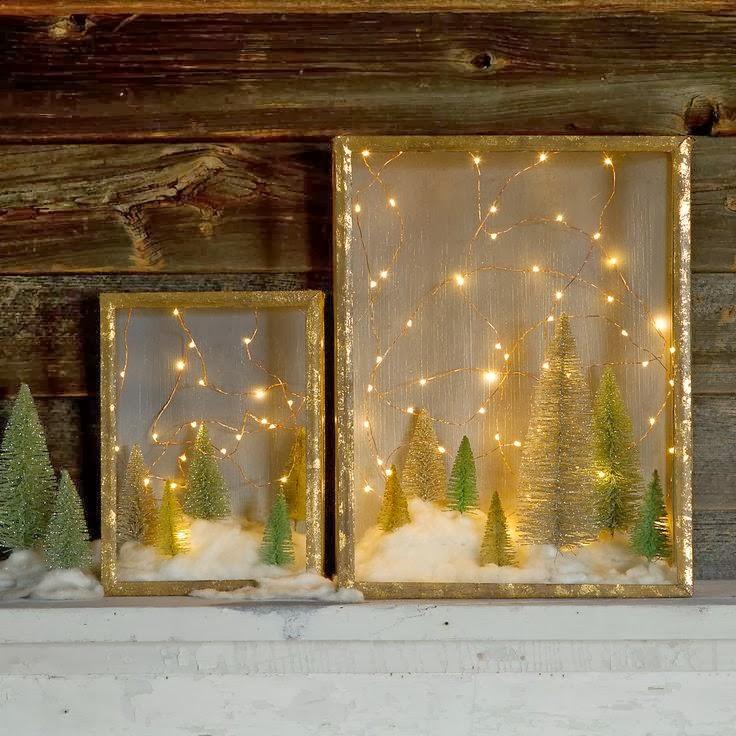 Blanco y negro manualidades para navidad color natural