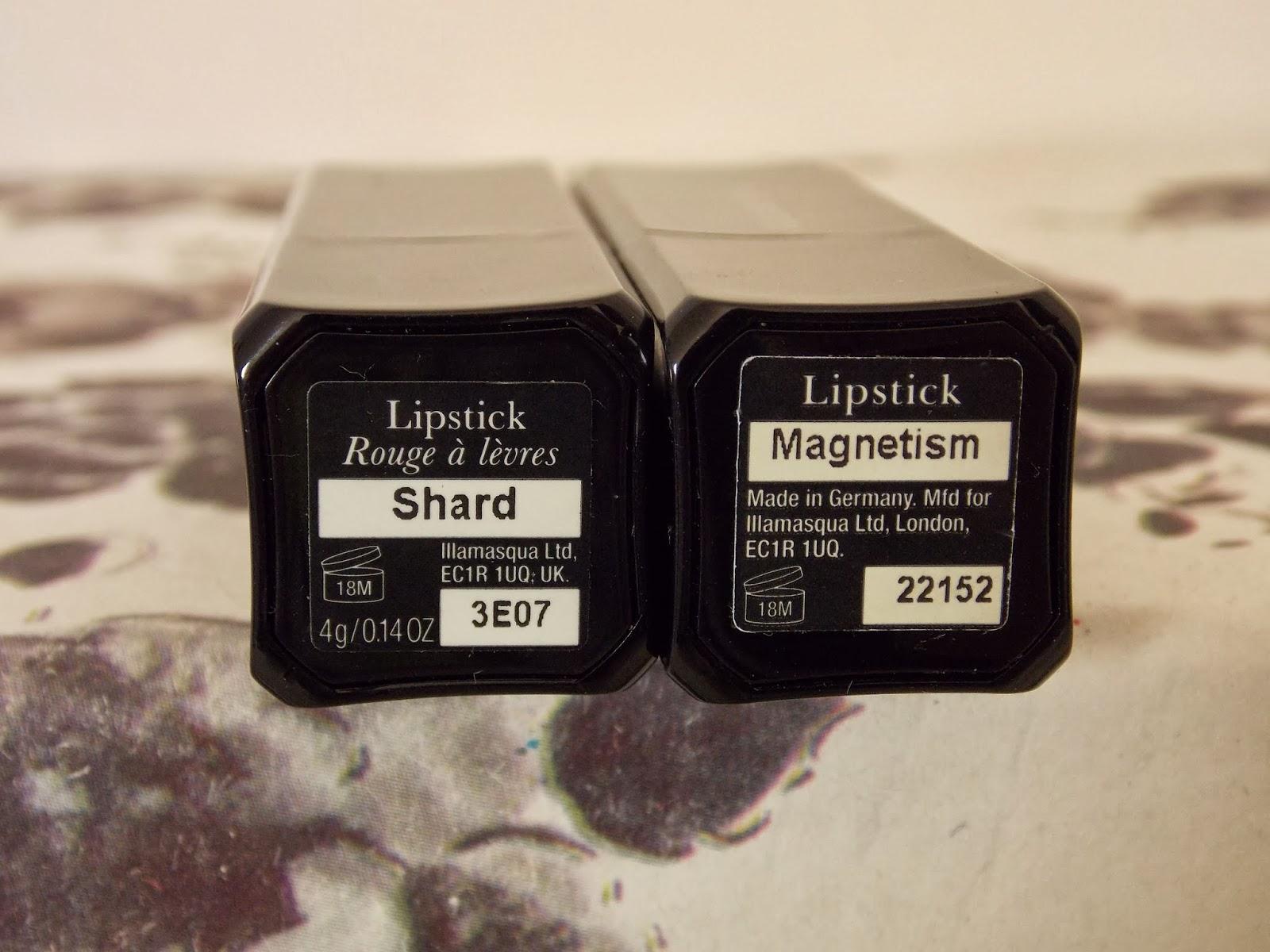 Lipstick: Illamasqua Shard and Illamasqua Magnetism
