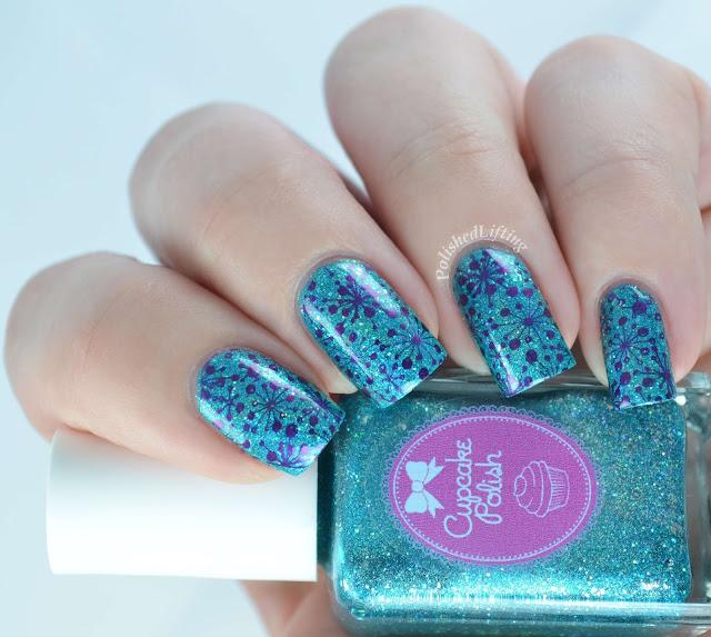 Cupcake Polish Bluebell Girls UberChic 1-01 Sally Hansen Insta Dri Pronto Purple