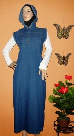 Gamis Jeans Topi GJ1057