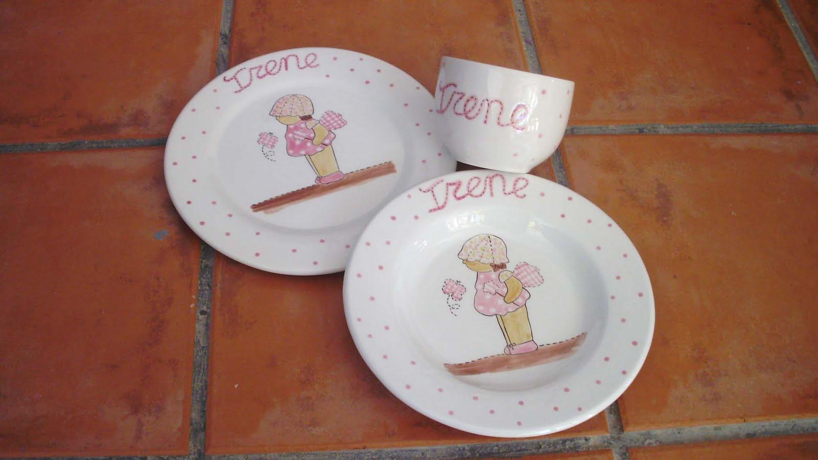 Vajillas infantiles personalizadas decoraci n infantil for Vajillas bebe personalizadas