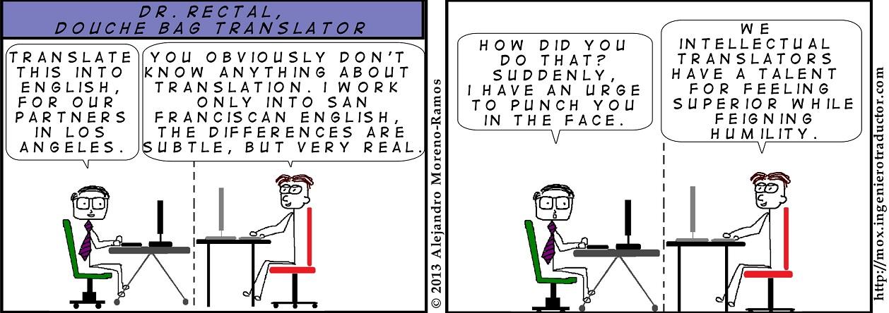 cartoon douche bag translator