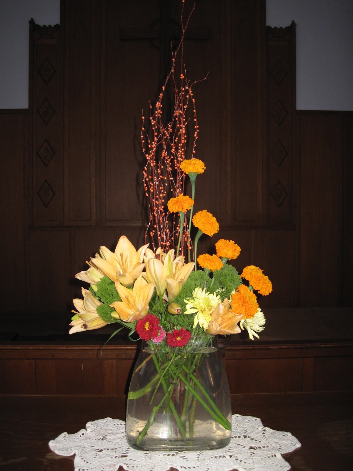 Patties Floral Design Church Altar Arrangement