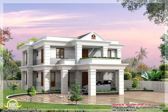 2 beautiful and different villa elevations kerala home for Different elevations of house