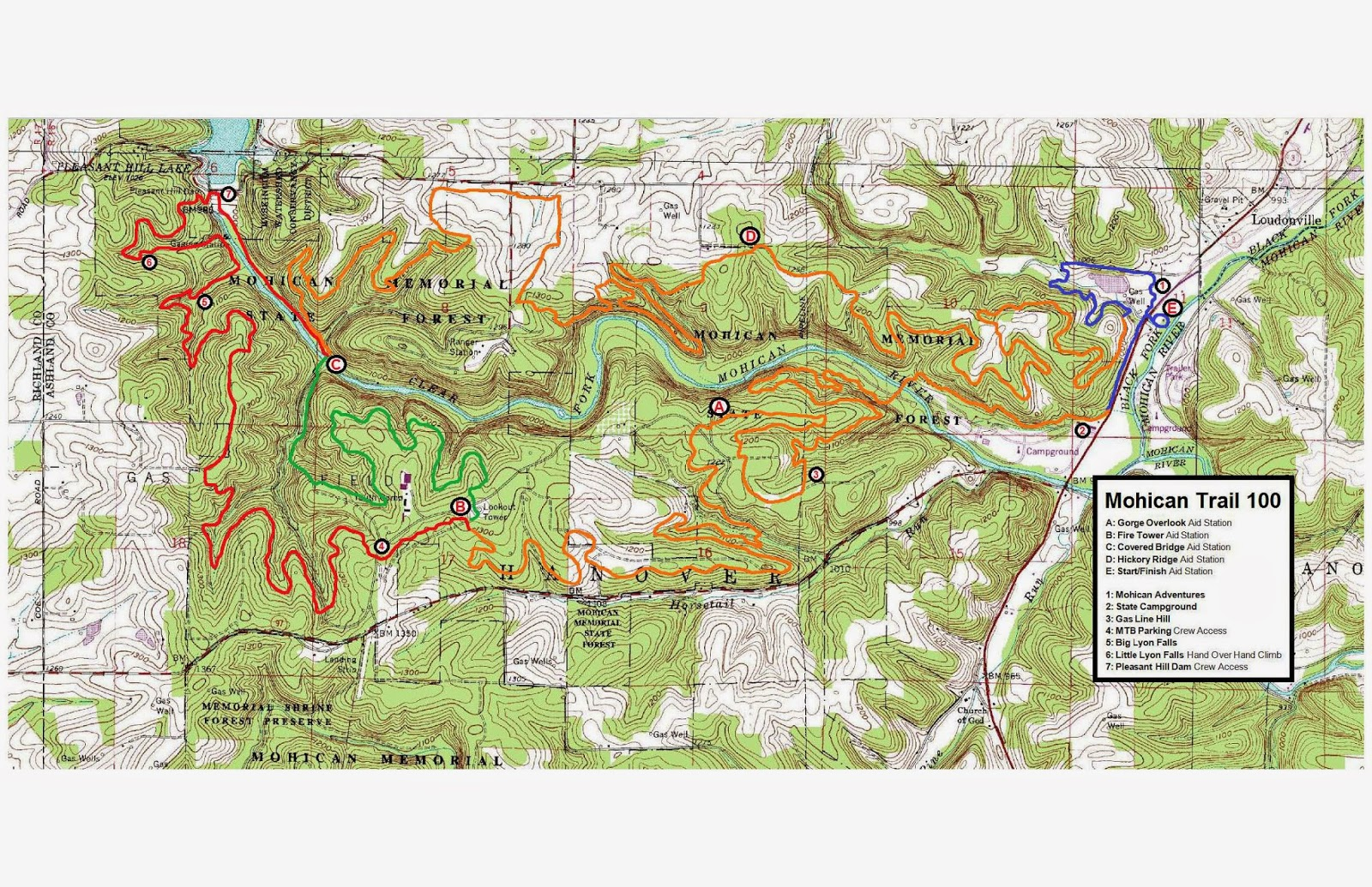 map of the course start from the letter e and work clockwise the longer loop extends further to the left of the map