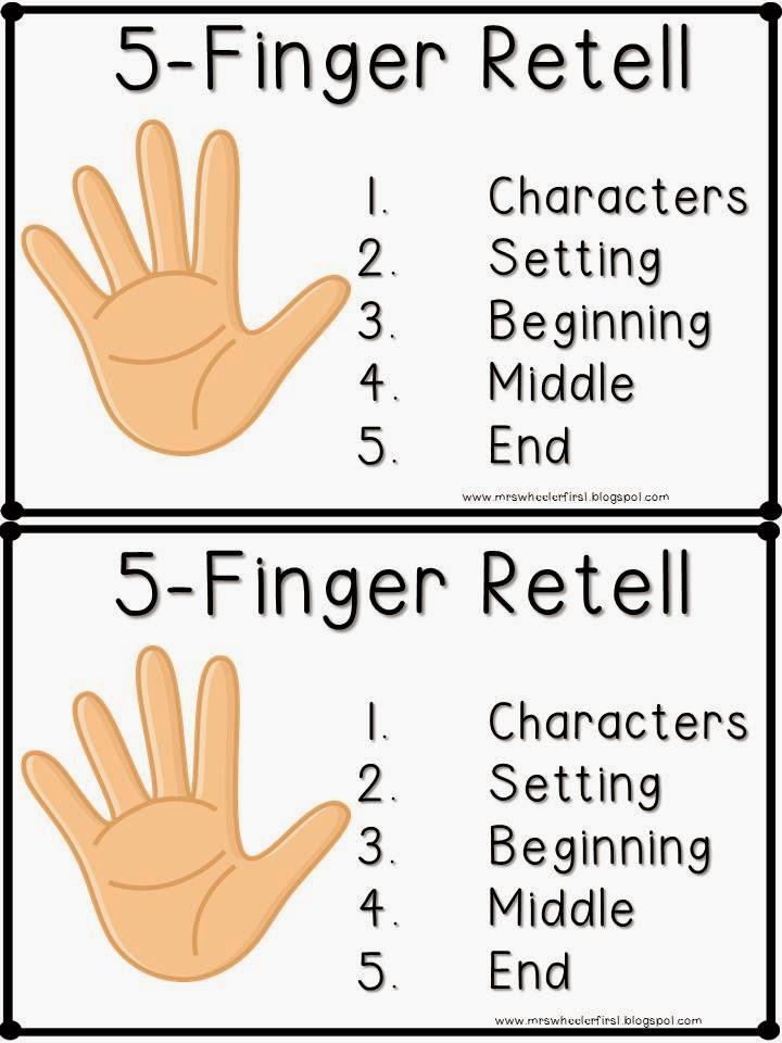 Mrs Wheeler S First Grade Tidbits Five Finger Retell