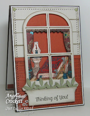 "ODBD Exclusive Spellbinders Window Die, ""The Word of God"", ""Mini Tags 1"" Designer Angie Crockett"