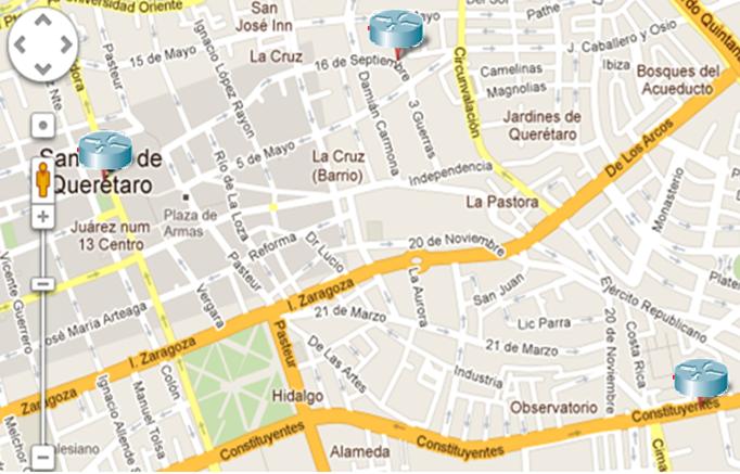 Tercer semestre de informatica for Mapa santander sucursales