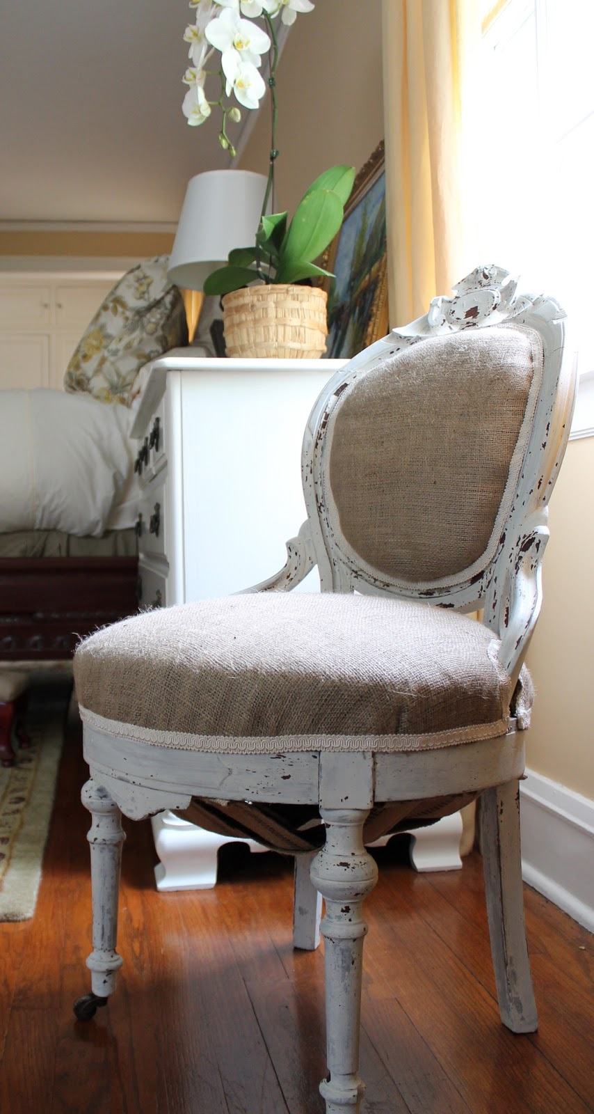Mostly Shabby, Slightly Chic Chair Makeover