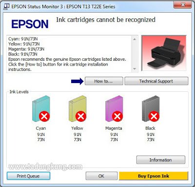 "Mengatasi ""Ink Cartridge Not Recognized"" pada Printer Epson"