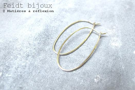 Boucles créoles Feidt ovales or jaune