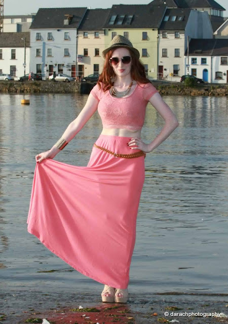 Coral Maxi Skirt Blog Review Miss Luxe