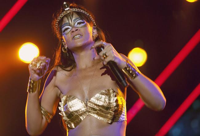 Rihanna as Egyptian princess