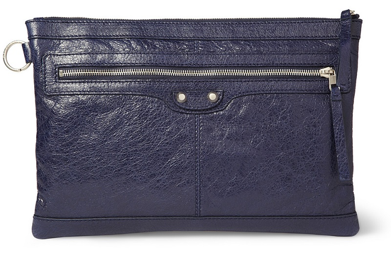 BALENCIAGA NAVY BLUE MEN'S CLUTCH - DELUXSHIONIST SHOPPER