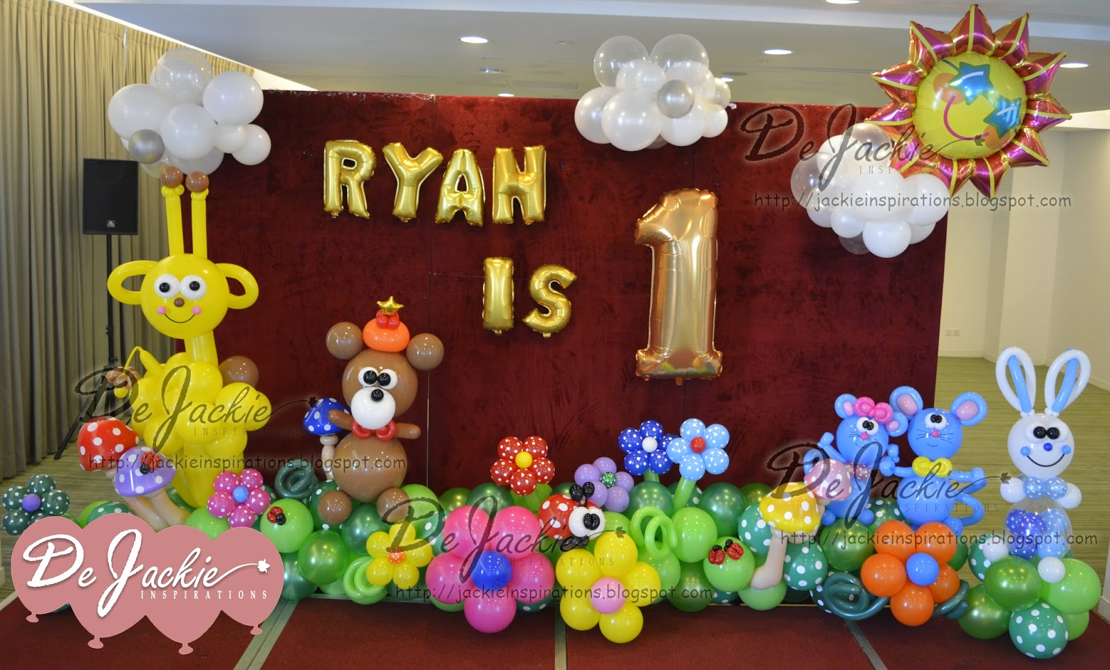 balloon decorations for weddings birthday parties ForBalloon Decoration For 1st Birthday Party