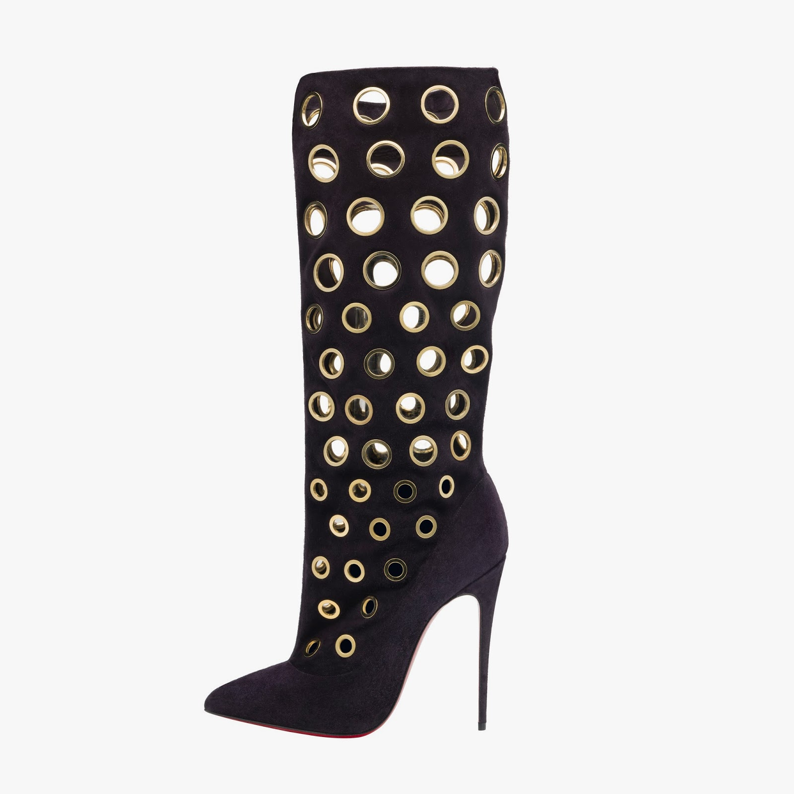 Christian Louboutin Apolloboot 120 Veau Velours Eclipse Gold