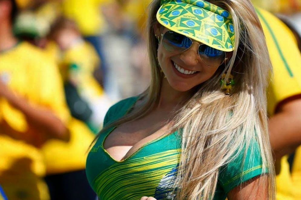 Beautiful and Hot Brazil Supporter