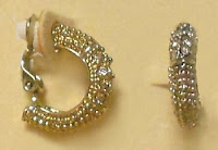 P&P Crystal & Granulated Clip On Hoops