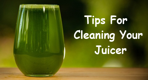 cleaning a juicer