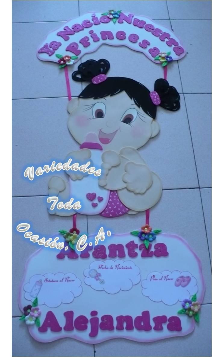 Letreros bienvenidos para recien nacidos en foami - Imagui