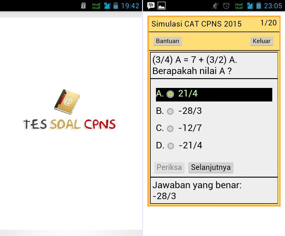 Download aplikasi CAT CPNS terbaru gratis kunci jawaban tes pns