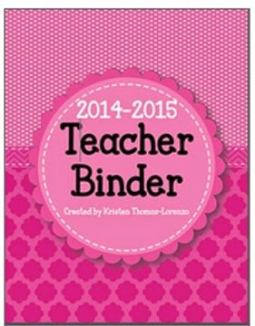 Pink Teacher Binder Cover from Jackson in the Middle