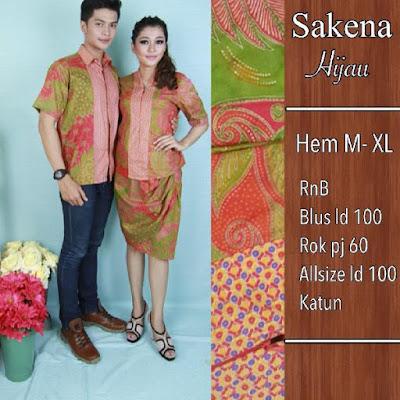 Baju Batik Pasangan Sakena Merah Muda SP8094