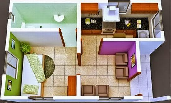 Desain Rumah Mungil sederhana Type 27