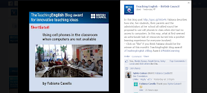 My Blog post Shortlisted by Teaching English-British Council - Innovative Ideas in the classroom