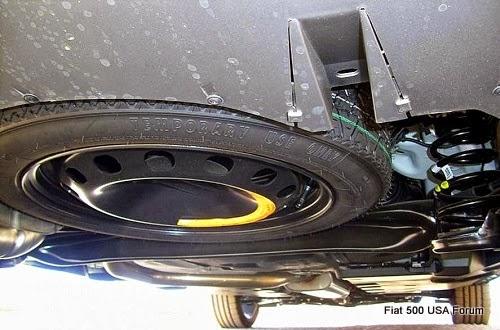 Fiat 500L Spare Tire