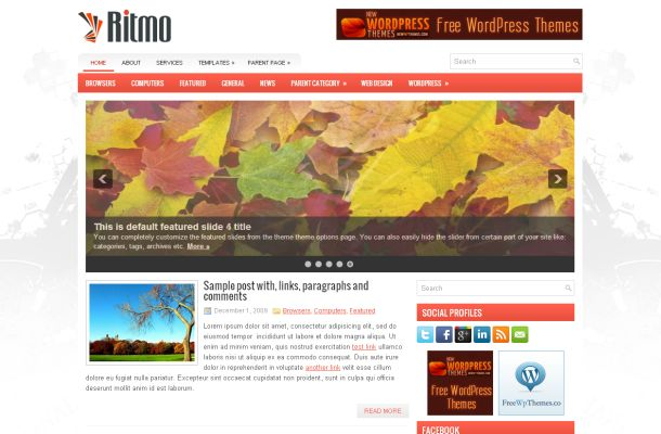 Free Wordpress Silver Business Theme Template