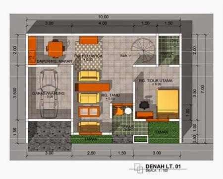 Gambar Denah Desain Rumah Minimalis Modern 1 Lantai Pilihan 2017/2018