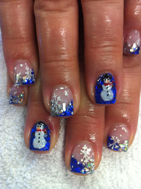 3d christmas acrylic nail art