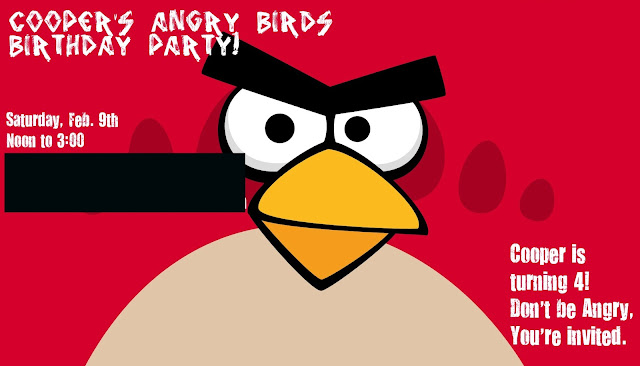 We Three Mothers Coopers Angry Birds Birthday Party – Angry Birds Party Invitations