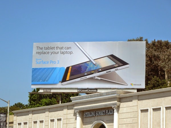 tablet replace your laptop Surface Pro 3 billboard
