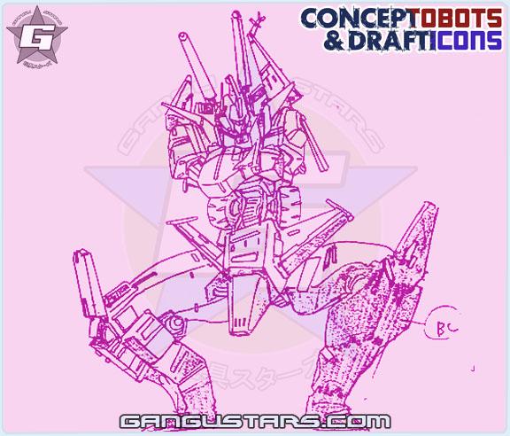 Bruticus Studio OX Transformers design sketch art スタジオOX トランスフォーマー タカラ