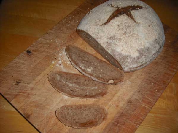 The Taste Was Milder Than 100 Whole Wheat With Less Bitterness Perhaps Because Slightly Less Wheat Got Roasted The Cracked Barley On Top Of The Loaf