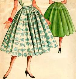 1950s circle skirt pattern sewing Just Peachy, Darling