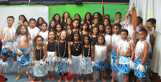 Picture of Students at Pt. England school ready for FiaFia Night